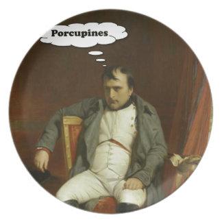 Prato De Festa Napoleon pensa sobre porcos-