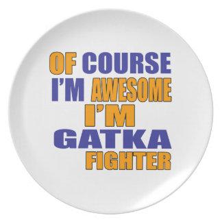 Prato De Festa Naturalmente eu sou lutador de Gatka