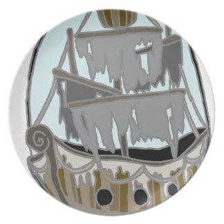 Prato De Festa Navio do fantasma