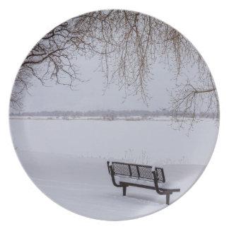Prato De Festa Neve caída fresca
