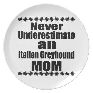 Prato De Festa Nunca subestime a mamã do galgo italiano