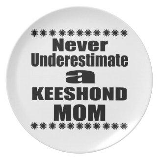 Prato De Festa Nunca subestime a mamã do KEESHOND