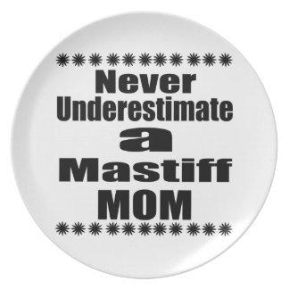 Prato De Festa Nunca subestime a mamã do Mastiff