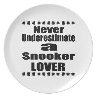 Prato De Festa Nunca subestime o amante do Snooker