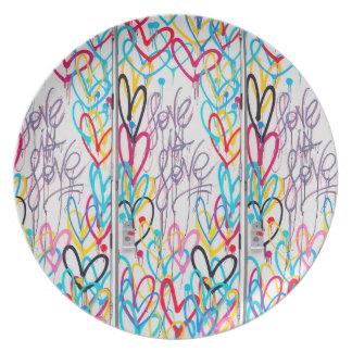 Prato De Festa O amor é placa do amor