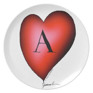 Prato De Festa O ás de corações por Tony Fernandes