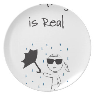 Prato De Festa O esforço da falha do guarda-chuva é real