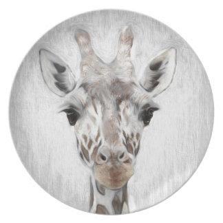 Prato De Festa O girafa majestoso retratou multiproduct
