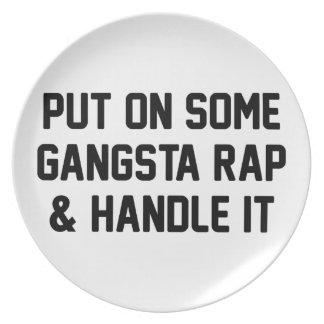 Prato De Festa O rap de Gangsta & segura-o