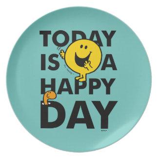 Prato De Festa O Sr. Feliz | é hoje um dia feliz