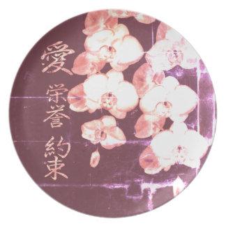 Prato De Festa Orquídeas japonesas