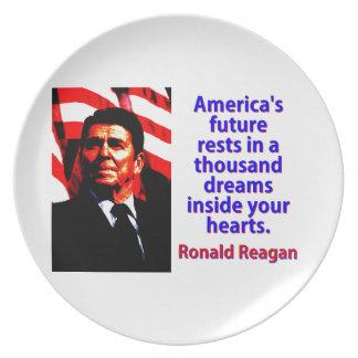 Prato De Festa Os restos futuros de América - Ronald Reagan
