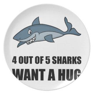 Prato De Festa Os tubarões querem o abraço