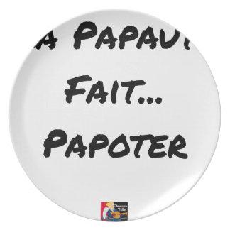 Prato De Festa PAPAUTÉ FAZ TAGARELAR - Jogos de palavras