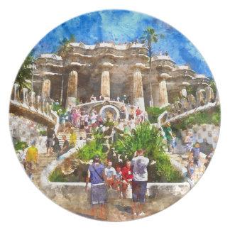 Prato De Festa Parc Guell na espanha de Barcelona