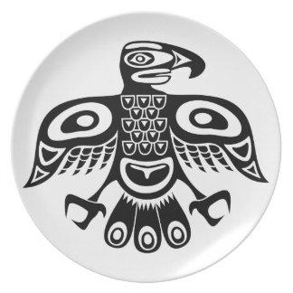Prato De Festa Pássaro nativo do totem