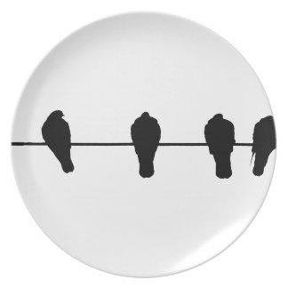 Prato De Festa Pássaros