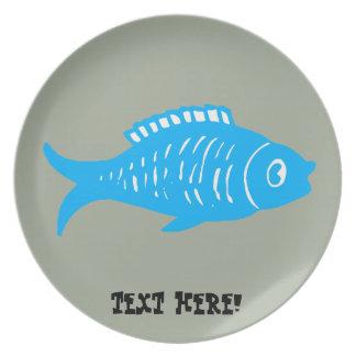 Prato De Festa Peixes azuis