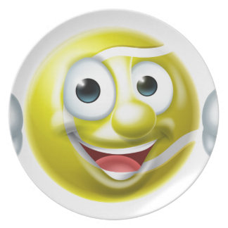 Prato De Festa Personagem de desenho animado do homem da bola de