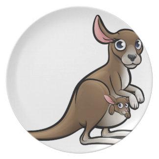 Prato De Festa Personagem de desenho animado dos animais do