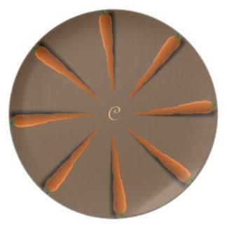 Prato De Festa Personalize o partido das cenouras