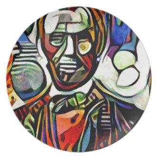 Prato De Festa Pintura colorida digital de Abraham Lincoln