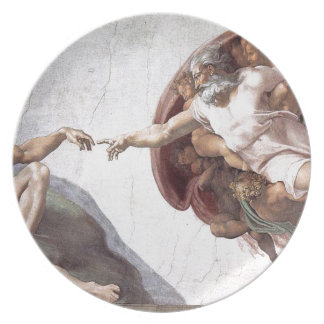 Prato De Festa Pintura original de Michelangelo na capela Roma do