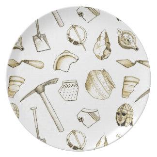 Prato De Festa Placa Archaeological da melamina dos fragmentos