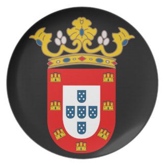 Prato De Festa Placa da brasão de Ceuta*
