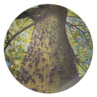 Prato De Festa Placa da melamina da árvore de seda de Floss