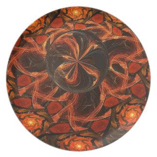 Prato De Festa Placa da melamina da esfera da lava do caramelo