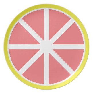 Prato De Festa Placa da melamina da fatia da toranja