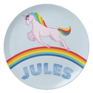 Prato De Festa Placa de Jules para crianças