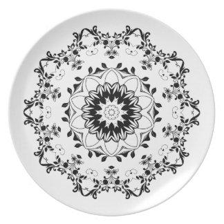 Prato De Festa Placa decorativa da melamina da mandala