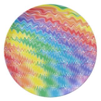 Prato De Festa Placa do arco-íris da lava
