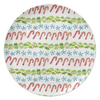 Prato De Festa placa do Natal - melamina