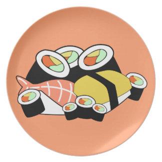 Prato De Festa Placa do sushi