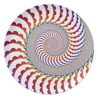 Prato De Festa Placa espiral balística da melamina