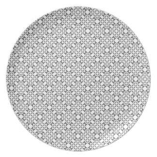 Prato De Festa Placa geométrica do teste padrão do diamante
