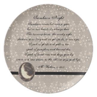Prato De Festa Poesia Prim do original de Samhain da lua e das