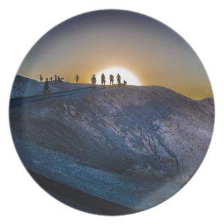 Prato De Festa Por do sol do ponto do zabriskie do Vale da Morte