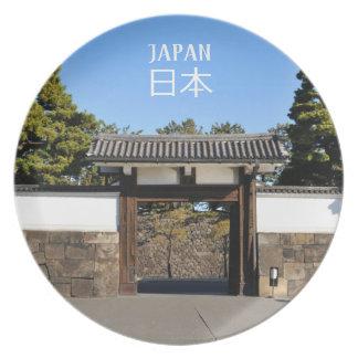 Prato De Festa Porta do templo em Tokyo, Japão