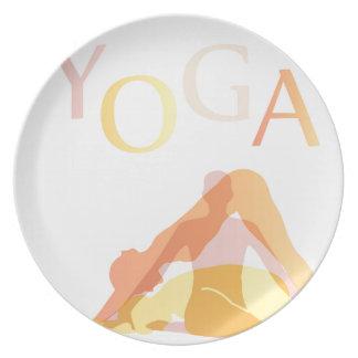 Prato De Festa Poses da ioga