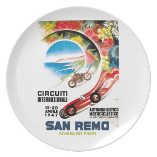 Prato De Festa Poster 1947 grande da raça de San Remo Prix