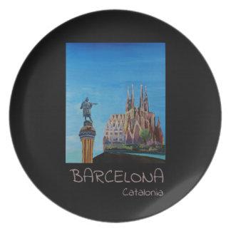 Prato De Festa Poster retro Barcelona