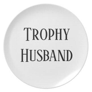 Prato De Festa Presente do Natal do marido do troféu que deleita