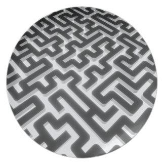 Prato De Festa Preto de prata do labirinto