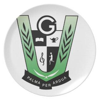 Prato De Festa Produtos da crista da reunião dos alunos de GGMSS