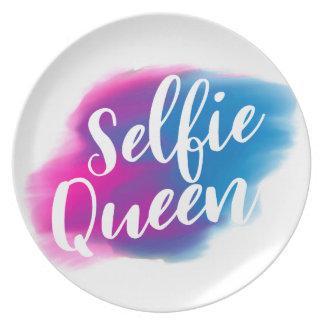 Prato De Festa Rainha engraçada de Selfie