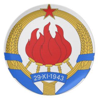Prato De Festa República federal socialista do emblema de